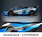 racing car decal wrap design.... | Shutterstock .eps vector #1195940854