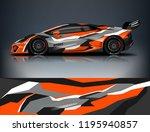 racing car decal wrap design.... | Shutterstock .eps vector #1195940857