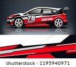 racing car decal wrap design.... | Shutterstock .eps vector #1195940971