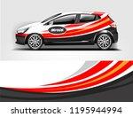 car wrap design  for branding ... | Shutterstock .eps vector #1195944994