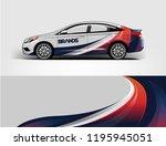 car wrap design  for branding ... | Shutterstock .eps vector #1195945051