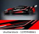 sport car wrap design  for... | Shutterstock .eps vector #1195948861