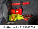 the interior of the trunk of... | Shutterstock . vector #1195949794
