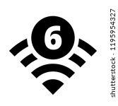 wi fi 6 generation button... | Shutterstock .eps vector #1195954327