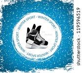 winter sport background.ice...