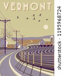 Travel Poster Of Vermont  Usa....