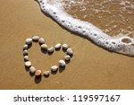 Heart Shaped Stones On A Beach...