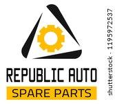 "car spare parts logo ""republic... | Shutterstock .eps vector #1195972537"