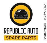 "car spare parts logo ""republic... | Shutterstock .eps vector #1195972564"