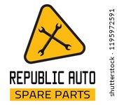 "car spare parts logo ""republic... | Shutterstock .eps vector #1195972591"