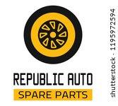 "car spare parts logo ""republic... | Shutterstock .eps vector #1195972594"