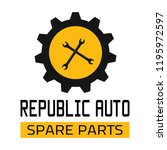"car spare parts logo ""republic... | Shutterstock .eps vector #1195972597"