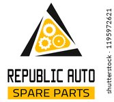 "car spare parts logo ""republic... | Shutterstock .eps vector #1195972621"