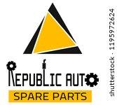 "car spare parts logo ""republic... | Shutterstock .eps vector #1195972624"