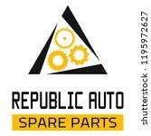 "car spare parts logo ""republic... | Shutterstock .eps vector #1195972627"