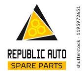 "car spare parts logo ""republic... | Shutterstock .eps vector #1195972651"