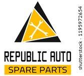 "car spare parts logo ""republic... | Shutterstock .eps vector #1195972654"