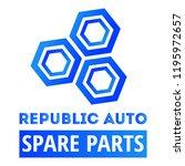 "car spare parts logo ""republic... | Shutterstock .eps vector #1195972657"