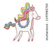 unicorn fantasy cartoon | Shutterstock .eps vector #1195985704