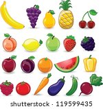 cartoon  vegetables | Shutterstock .eps vector #119599435