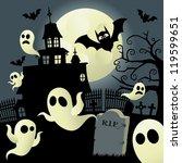 haunted house | Shutterstock .eps vector #119599651