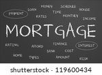 mortgage word cloud written on... | Shutterstock . vector #119600434