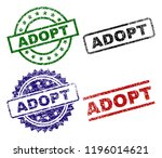 adopt seal prints with damaged... | Shutterstock .eps vector #1196014621