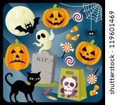 halloween collection   Shutterstock .eps vector #119601469