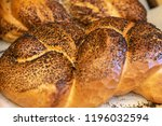 breads and baked goods close up.... | Shutterstock . vector #1196032594