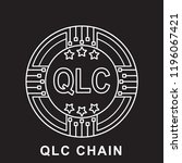 qlc chain coin qlc ... | Shutterstock .eps vector #1196067421