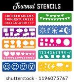 journal stencils  ten templates ... | Shutterstock .eps vector #1196075767