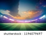 lights at night and stadium 3d... | Shutterstock . vector #1196079697