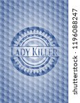 lady killer blue emblem with... | Shutterstock .eps vector #1196088247