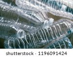 water bottles are made from pet ... | Shutterstock . vector #1196091424