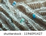 water bottles are made from pet ... | Shutterstock . vector #1196091427