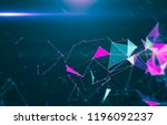 abstract geometric background... | Shutterstock . vector #1196092237
