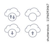 cloud download and upload icon. ...
