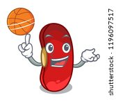with basketball character red...   Shutterstock .eps vector #1196097517