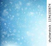 blue christmas snowflakes... | Shutterstock .eps vector #1196100874