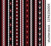 colorful knitting pattern...   Shutterstock .eps vector #1196106004