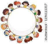 international children with... | Shutterstock .eps vector #1196111317
