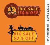 halloween sale banner or ads | Shutterstock .eps vector #1196112121