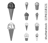 ice cream on a stick  in a... | Shutterstock . vector #1196118121