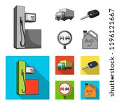 truck with awning  ignition key ... | Shutterstock . vector #1196121667