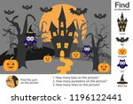 activity page  halloween... | Shutterstock .eps vector #1196122441