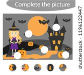 complete the puzzle and find...   Shutterstock .eps vector #1196122447