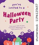 halloween party invitation card ... | Shutterstock .eps vector #1196125657