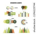 infographic elements  annual... | Shutterstock .eps vector #1196125744