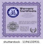 violet vintage warranty... | Shutterstock .eps vector #1196133931