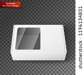 white product package box | Shutterstock .eps vector #1196134831